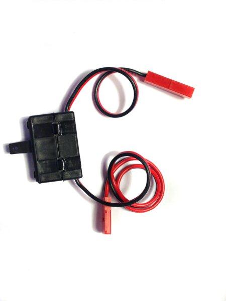 EinAus Schalter mit Kabel BEC 2x0,34 für FG MCD Kyosho Reely Carson Unterbrecher