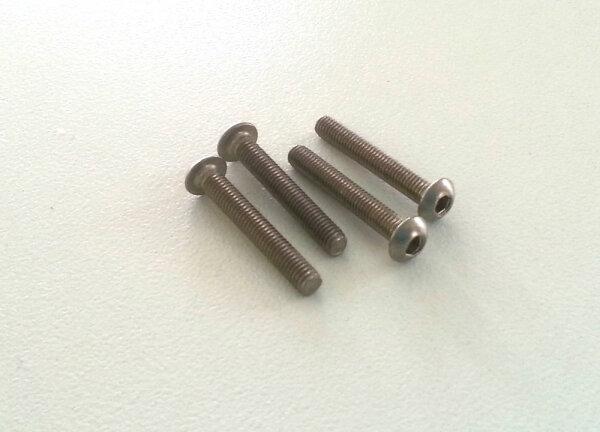 Linsenkopfschrauben M3 x 20 mm V2A Innensechskant Edelstahlschrauben M3x20