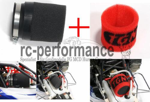 Luftfilter Bundle 4tgl. Filter+Vorfilter+Adapter FG MCD Losi Carbon fighter