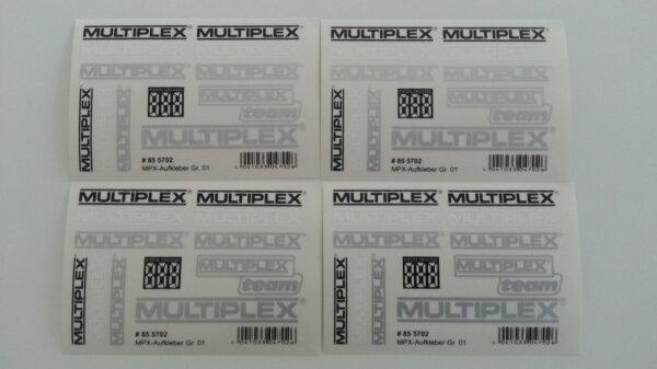 Multiplex Aufkleber Dekorbogen Satz Set Dekorsatz 855702 4 Stk.