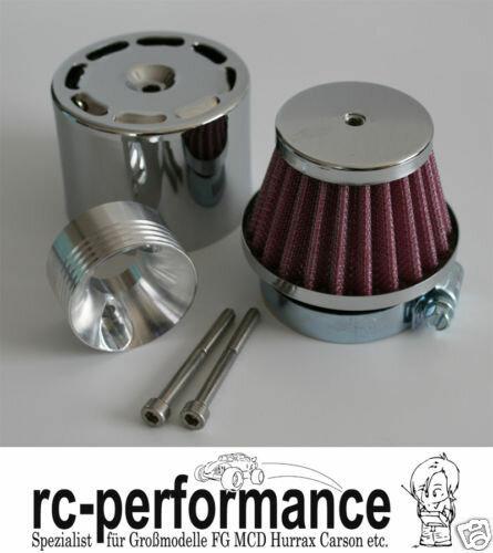 Racing Luftfilter incl. Chrom Hülse und Adapter FG CF Caron Blaster HPI MCD