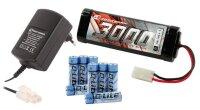 Elektro Starter Kit 3000 mAh Stickpack + Ladegerät...