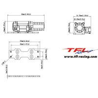 TFL Seilwinde B 5 KG Zugkraft für 1:10 1:8 Crawler...