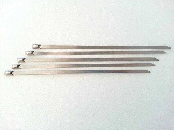 Edelstahl Kabelbinder V2A 200mm Auspuffbefestigung Stabil Rostfrei 4,5mm