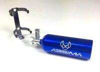 Lachgas Flasche NOS blau Aluminium Deko Crawler Absima...