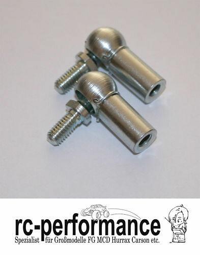 Stahl Kugelgelenke M6 Gewinde FG HPI CarbonFighter rechts Gewinde