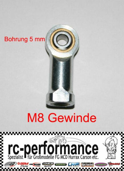 Stahlkugelgelenk M8 5mm Bohrung FG Marder rechts Gewinde Kugelgelenk HPI