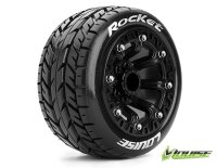 Louise ST-Rocket 2.2 Soft Reifen auf Felge schwarz E-Revo...