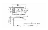 Hitec Servo D777MG LOW-Profil Flächenservo  Metal...