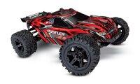 TRAXXAS Rustler 4x4 Rot RTR +12V-Lader+Akku 1/10 4WD...