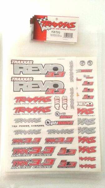 Team Traxxas Dekorbogen 297713 7713 Aufkleber Karosserie Folie E- Revo 3.3