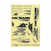 Aufkleber Dekorbogen Ansmann Racing Sticker FG Virus