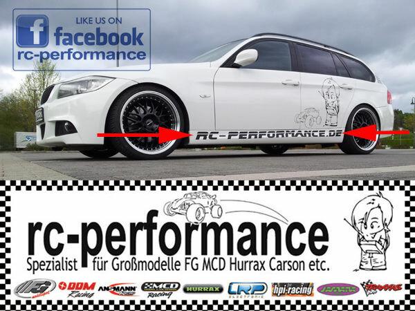 rc-performance.de Fahrzeugbeschriftung Racingaufkleber Merchandise 2Stk.FG