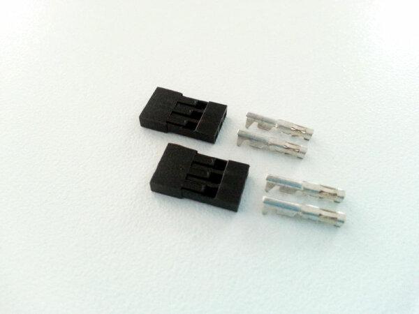 2x Servo Buchse Stecker Kabel JR / Graupner Empfänger