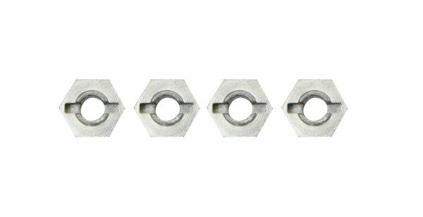 4x Aluminium 12mm 6 Kant Aufnahme Mitnehmer Stift 1:10 Alumitnehmer 505385