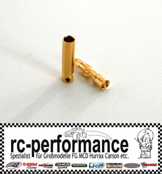 Goldkontaktstecker 4 mm Hochstromstecker Goldbuchsen Lipo Brushless MGM Lehner