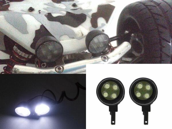 LED Scheinwerfer mit je 4 LED´s sehr hell Licht Belechtung 8 LEDS Streuglas