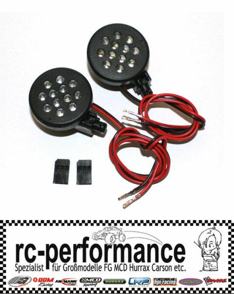 Scheinwerfer incl. 24 LED´s Plug&Play 6V FG HPI MCD Hurrax CF Hörmann Carson