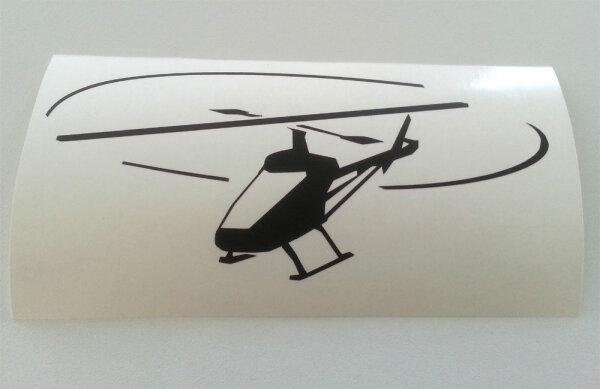 Aufkleber Heli Helikopter Helicopter  Patch KFZ-Aufkleber
