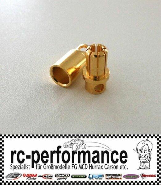 Goldkontaktstecker 8mm Hochstromstecker Goldbuchsen Lipo Brushless MGM Lehner