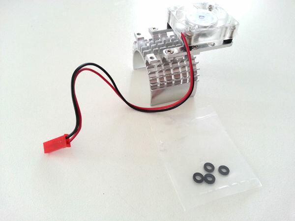 Aluminium Motorkühler 540er Motoren (1/10) mit Lüfter Kühlkörper 35mm