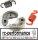 FG Zenoah Motor Kupplung incl. Feder in rot + schwarz Tuningkupplungsfeder