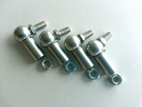 Stahl Kugelgelenke M6 Gewinde Winkelgelenk links Gewinde Winkelgelenke
