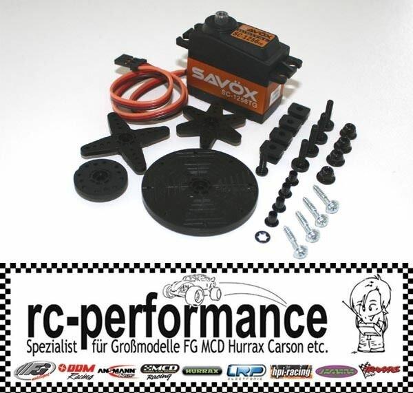 Savöx SC-1256TG Gas/Brems Servo mit Titan Getriebe FG HPI MCD CF Carson