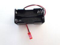 Batterie Box für 4x Mignon Zellen AA mit BEC Stecker...