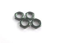 Radmuttern 17mm selbstsperrend  grün VE 4 Kyosho...