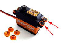 Servohalterungshülsen 4,3mm 8mm orange Team C Absima...