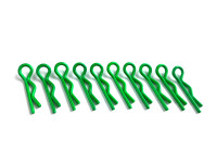 10 x Karosserieclips Leuchtend Grün Karosplinte...