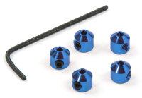 Aluminium Stopper 2mm Blau 5 Stk.Stellringe Madenschraube...