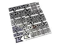 Kyosho Dekorbogen Chrome 29 Stk. Logo 235x210mm Sticker...
