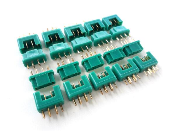 3 Paar 6 Stück MPX Hochstromstecker Stecker Buchse Multiplex Style 6 Polig 35A