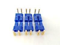 6Stk. EC2  Stecker + Buchse Set (3 Paar) AMASS...