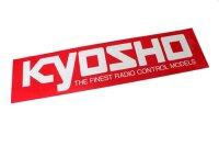 Kyosho Aufkleber 106 x35 mm ROT Sticker Patch LOGO87002